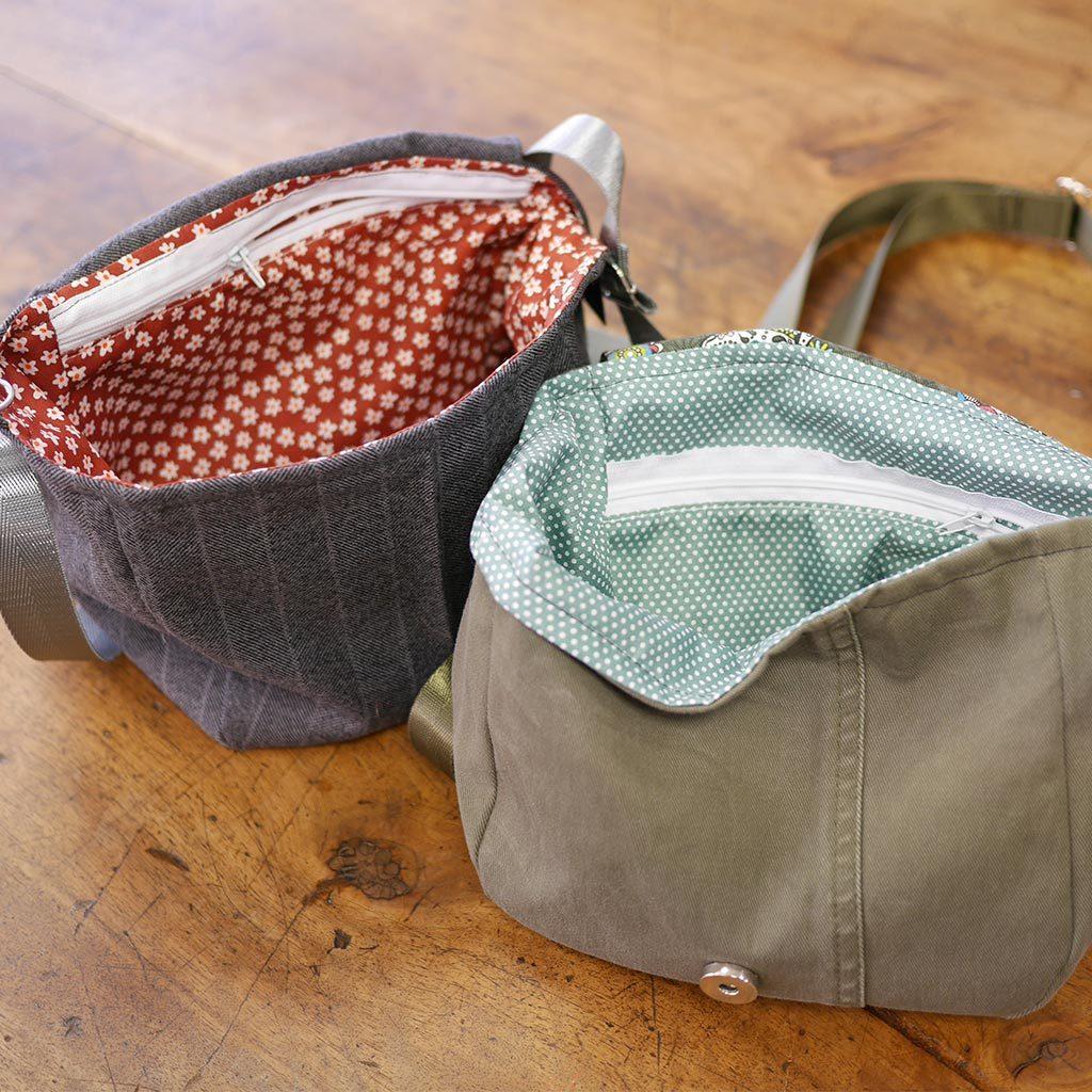 sac à bandoulière facile à porter, sac à bandoulière tissus, réglable et poche intérieure, aimant sur le rabat