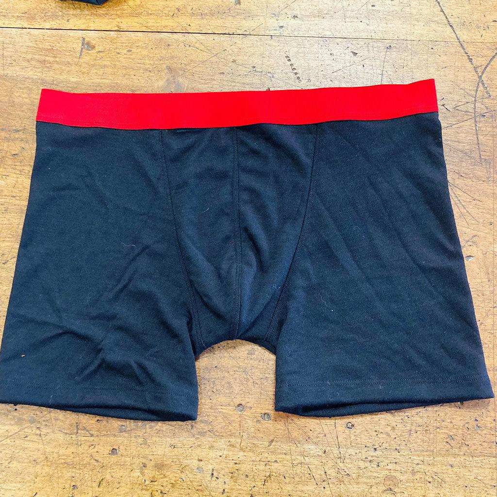 Boxer Homme de couleur bleu foncé et ceinture rouge