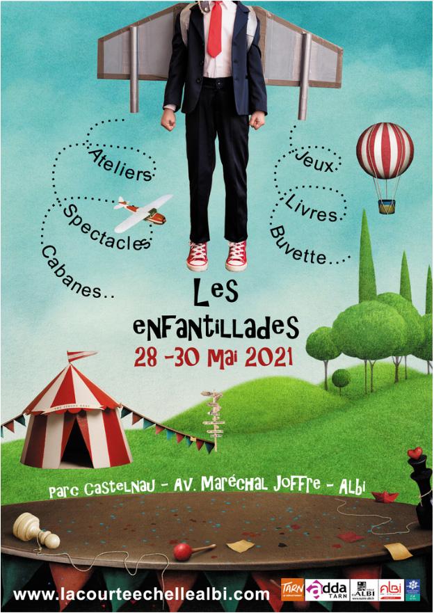 """Affiche ''Les Enfantillades du 28-30 mai 2021"""""""