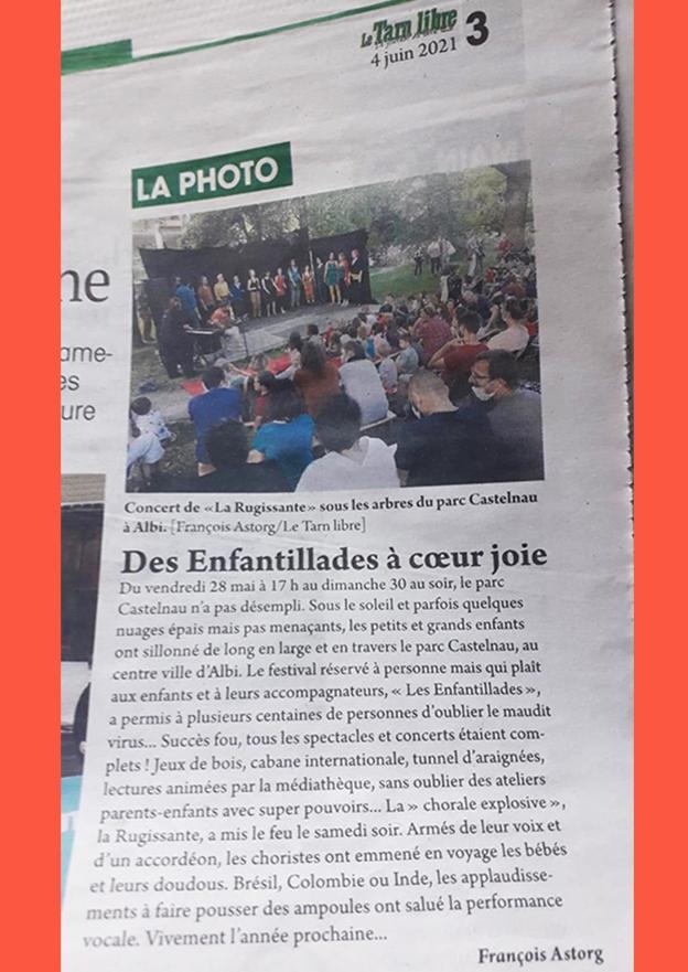 Revue de Presse du Tarn Libre publié le 4 Juin 2021