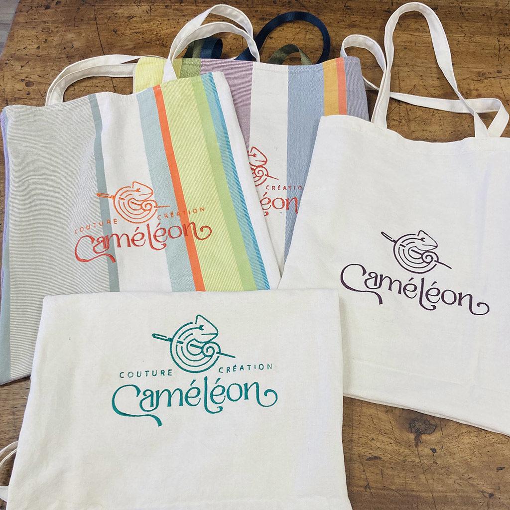 Sacs de marque Caméléon réalisés avec du tissus recyclés